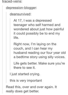 Just in case you needed to see this today. :) it gets better. It just takes some time. Def Not, Gives Me Hope, Faith In Humanity Restored, It Gets Better, Better Life, Look Here, My Tumblr, No Me Importa, That Way