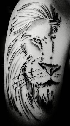 Lion tattoo by mully