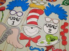 PDF Dr Seuss Photo Booth Props Printable DIY by chelawilliams