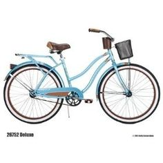 I pinned this Huffy Women's Deluxe Cruiser from the Wright Brothers event at Joss and Main! Cruiser Bikes, Bike Accessories, Woman Beach, Tiffany Blue, My Love, My Style, Lady, Sports, Gardens