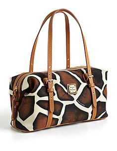 DOONEY & BOURKE  Giraffe-Print Rectangular Duf'fle Satchel Bag; also zebra