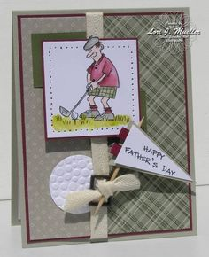 "Golf/Father's Day **** Stamp set: SU ""And Many Mower"", retired."