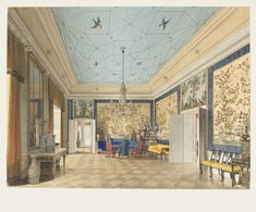 Eduard Gaertner, The Chinese Room in the Royal Palace, Berlin, Germany, 1850
