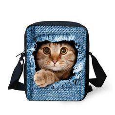 3D Crossbody Cat Printing Shoulder Bag