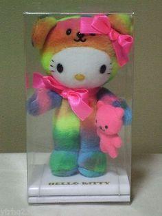 Hello Kitty Collection Colorful Bear plush doll Sanrio Rare! | eBay
