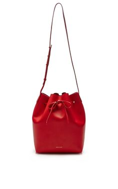Large Bucket Bag In Flamma by Mansur Gavriel for Preorder on Moda Operandi
