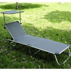 Buy Sun Lounger Recliner Chair Gray |Homcom