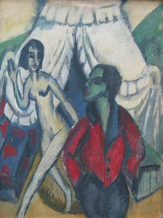 The Tent by @artistkirchner #expressionism