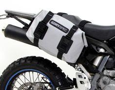 DrySpec™ Waterproof Motorcycle Drybag Saddle Bag System in Black, Grey & Orange Ducati Diavel Carbon, Ducati Supersport, Ducati Multistrada 1200, Ducati Hypermotard, Scrambler Custom, Triumph Scrambler, Scrambler Motorcycle, Honda Shadow Phantom, Moto Guzzi California