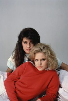 ca. August 1983 --- Actresses Jennifer Jason Leigh (front) and Phoebe Cates played the unforgettable roles of Stacy Hamilton and Linda Barrett, respectively, in the 1982 classic . --- Image by © Douglas Kirkland/CORBIS