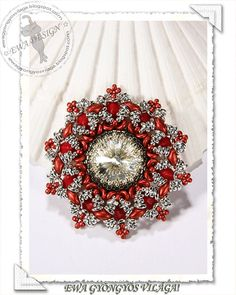 Ahana beaded pendant PDF pattern by Ewagyongyosvilaga on Etsy, Ft1450.00