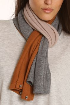 scarf, could use old sweater sleeves