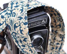 Camera Strap for dSLR Cameras  Ocean Fleur de by SweetStrapExpress, $26.00