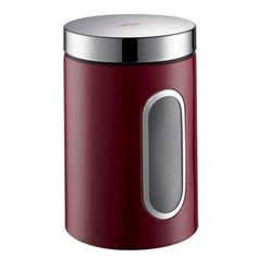 wesco-canister-with-window-ruby-red_ kitchen storage