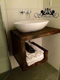 Upcycling! Exklusiver Waschtisch, Industriedesign von !SCHAICH Holzmanufaktur auf DaWanda.com