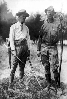 """Dr. Pope inspired Art Young and the two made many early-day hunts with bow and arrow. Dr. Pope wrote one of the first books really explaining modern-day bowhunting, titled """"Bowhunting with a Bow and Arrow."""" Dr. Pope was born in 1875 and died in 1927. Art Young was one of the first men to bowhunt Alaska, and he did so while be filmed for early documentaries."""