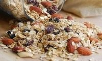 Mother's Day Breakfast Ideas: Cherry, Prune, and Almond Granola Cinnamon Almonds, Sliced Almonds, Oatmeal Granola Recipe, Mothers Day Breakfast, Dried Cherries, Shredded Coconut, Whole Food Recipes, Breakfast Recipes, Cherry