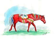 Dala Horse by   Pushdug on deviantart.com