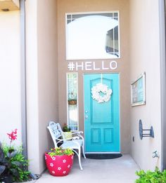 A FUN Porch that says #HELLO!