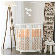 Autumn inspired, Stokke mini set - orange. Create your custom bedding set at Lublini.com #stokke