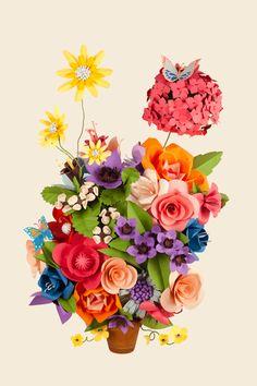AOL Artists Flower Pot