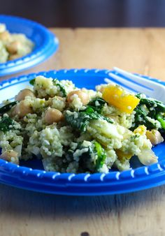 Couscous Veggie Salad with Pesto for #SundaySupper