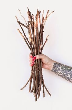 These copper dipped branches are gorgeous.