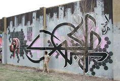 """El Seed street art-- """"Respect your elders"""""""