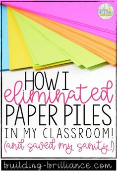 Let's talk about those paper piles for a minute... Are they driving you crazy?! Are you looking for an organizational system that will eliminate paper piles, increase student accountability and ownership, and help save your sanity?! This organizational system helped save my sanity in my 3rd grade classroom! Read more to find out how I set it up, maintained it, and taught my students how to utilize it! #ClassroomOrganization #3rdGrade The New School, New School Year, First Day Of School, Middle School Teachers, Elementary Teacher, Elementary Schools, Teacher Organization, Teacher Hacks, Organized Teacher