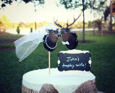 Buck and doeBride and groomdeer wedding cake by MorganTheCreator