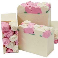 secret garden soap by Platypus Dreams Homemade Body Butter, Essential Oils Soap, Rose Soap, Soap Maker, Luxury Soap, Organic Soap, Soap Packaging, Cold Process Soap, Soap Recipes