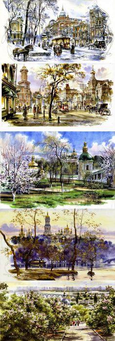 Городской пейзаж|Художник Сергей Брандт