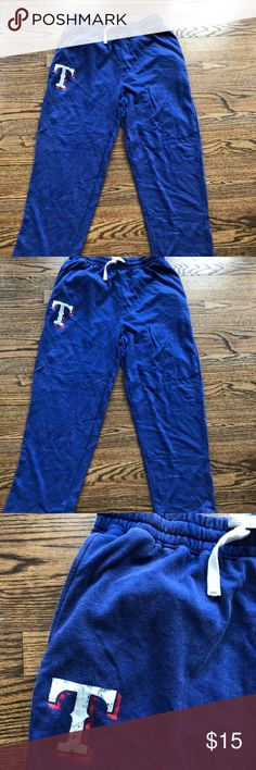 Texas Rangers Blue Sweat Pants Worn and washed one time, Texas rangers baseball blue heathered sweat bottoms. Super soft and super comfortable with stretchy waistband Pants Sweatpants & Joggers