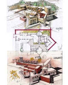 Sketch by architectdrwTag your Artist friends Architecture Concept Drawings, Architecture Panel, Landscape Architecture Design, Education Architecture, Green Architecture, Islamic Architecture, Architecture Portfolio, Architecture Student, Interior Design Presentation