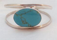 Sterling Silver Turquoise Cuff Bracelet ATI by bitzofglitz4u, $60.00