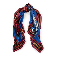 Polo Ralph Lauren Polo Crest Silk Scarf ( 50) ❤ liked on Polyvore featuring  accessories, scarves, navy, navy shawl, navy blue shawl, polo ralph lauren  ... 9ecd81a48b7