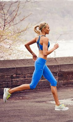 Athleta- looks like the girl is running along the Hudson at West Point. Makes me a little homesick (and sorry I didn't enjoy running during my cadet days. May if this was an option over gym-a I would have been a little more motivated :-)
