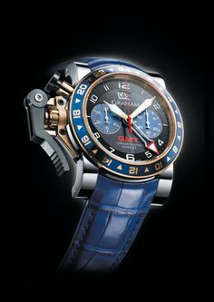 2OVGG.B26A « Oversize GMT steel & gold / gold « Chronofighter « Collection - Graham London #Watches #GrahamLondon #AttilaMéxico