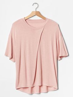 Pleat neck tee Product Image