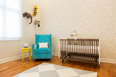 Gender Neutral Animal-Inspired Nursery - love the use of this @skiphopnyc play mat that is functional and looks fab! #PNpartner