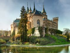 The Castle Bojnice, a historical landmark in Slovakia? Or it's hogwarts...