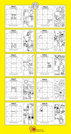 Addition Puzzle Worksheets Addition Worksheets for Kids Math For Kids, Puzzles For Kids, Fun Math, Math Games, Preschool Activities, Kids Math Worksheets, Maths Puzzles, Math Addition, Instructional Design