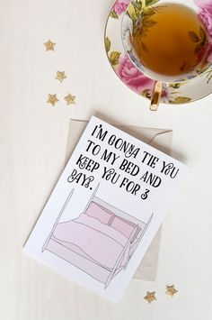 I'm gonna tie you to my bed and keep you for 3 days. Romantic Card - Adam from Girls