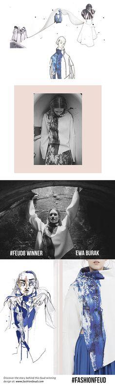 Fashion Sketchbook - fashion sketches; fashion design development // Ewa Burak - an emerging designer at Fashion Feud