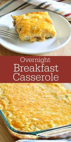 Overnight Breakfast Casserole- the easiest make-ahead casserole loaded with sausage, potatoes, cheese and eggs! Overnight Breakfast Casserole- the easiest make-ahead casserole loaded with sausage, potatoes, cheese and eggs! Egg Recipes For Breakfast, Breakfast Dishes, Brunch Recipes, Breakfast Ideas, Brunch Ideas, Sweets Recipes, Brunch Egg Dishes, Dinner Ideas, Breakfast Potatoes