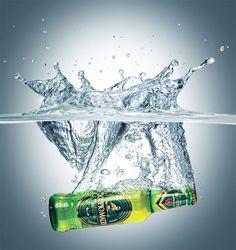 CGI Product Rendering of Birra Moretti Doppio Malto Beer Bottle Advertising Photography, Commercial Photography, Photography Projects, Photography Tutorials, Food Photography, Splash Fotografia, Beer Shot, Juice Ad, Alcohol Bottles