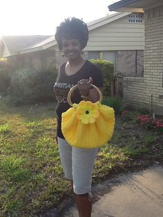 Crocheted SWAG BAG or Fatbottom Bag  Purse by Sherrysuniquecrochet, $55.00
