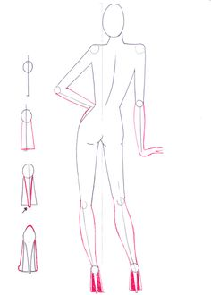 Fashion Figures by DarkCrea       Art Reference   Pinte    Fashion sketches tutorial on how to draw back view figure pose step by step