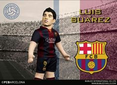 Luis Suarez BubuzZ figure. FC Barcelona and Uruguay striker now in a realistic size for every FCB fan. Now available in BubuzZ online shop in Facebook : http://j.mp/1zfl5WS