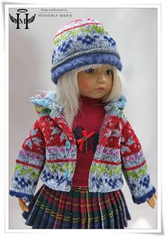 "[Effner] Winter Hooded Jacket and Hat | 13"" Little Darling Outfit Clothes by HM #HeavenlyMarie"